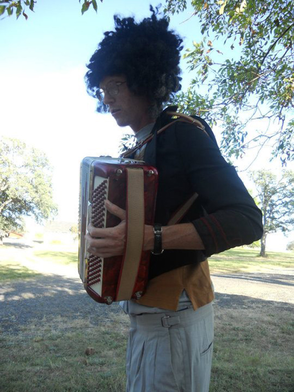 Mitch with accordion
